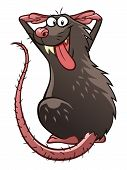 stock photo of maliciousness  - Cartoon malicious grey rat - JPG