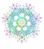 picture of scrollwork  - Abstract round lace pattern - JPG