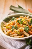 pic of leek  - pasta with carrot leek and pine nuts - JPG