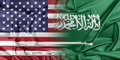 stock photo of saudi arabia  - Relations between two countries - JPG