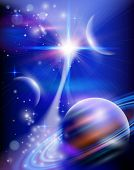 stock photo of shooting stars  - Magic Space  - JPG