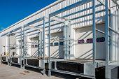 pic of loading dock  - brand New white loading dock under construction - JPG
