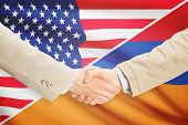 stock photo of armenia  - Businessmen shaking hands  - JPG