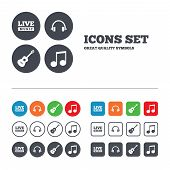 stock photo of music symbol  - Musical elements icons - JPG