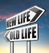 picture of makeover  - new life versus old life fresh beginning or start again last chance for you by remake or makeover  - JPG