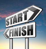 stock photo of start over  - start finish   - JPG