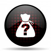 stock photo of riddles  - riddle red glossy web icon  - JPG