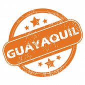 foto of guayaquil  - Round rubber stamp with city name Guayaquil and stars - JPG
