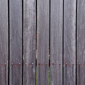 stock photo of log fence  - brown wood plank texture background - JPG