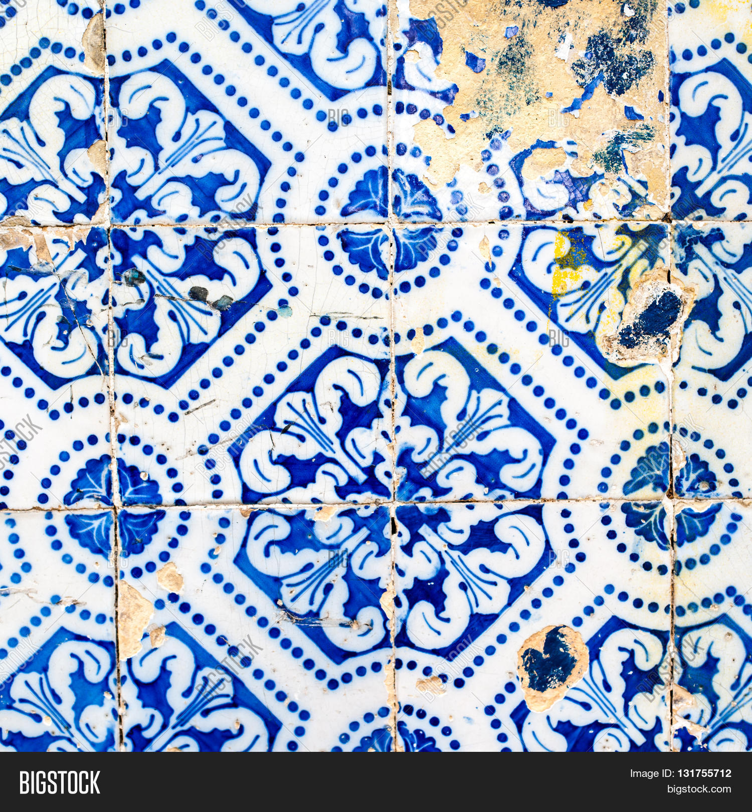 Traditional ornate portuguese image photo bigstock traditional ornate portuguese decorative tiles azulejos indigo blue tiles floor ornament collection dailygadgetfo Images