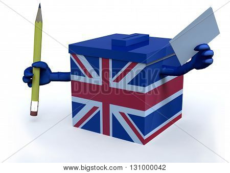 Ballot Box With British Flag