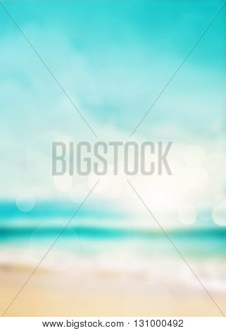 Illustration of abstract sea background