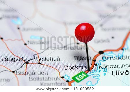 Docksta pinned on a map of Sweden