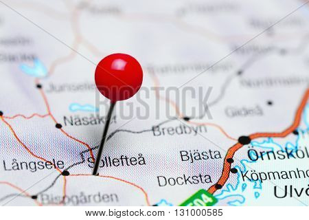 Solleftea pinned on a map of Sweden