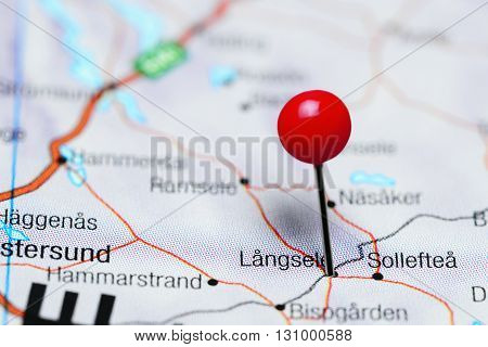 Langsele pinned on a map of Sweden