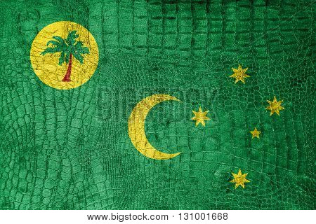 Flag Of Cocos Islands, On A Luxurious, Fashionable Canvas