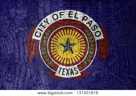 Flag Of El Paso, Texas, On A Luxurious, Fashionable Canvas