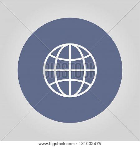 World Globe Icon pictogram icon. Flat design style eps 10