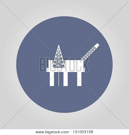 Oil platform icon. Flat design style eps 10