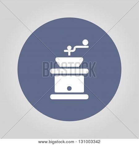 Coffee grinder. Flat design style eps 10