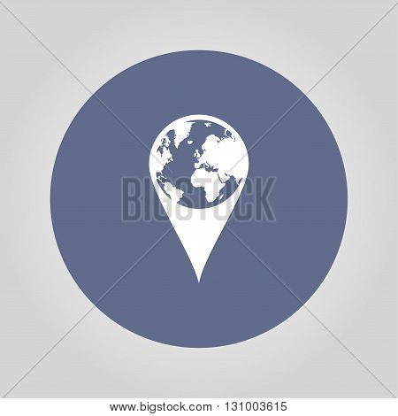 Pictograph of globe. Map pointer. Illustration vector EPS 10