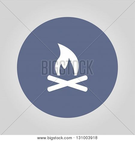 Vector Illustration of a Fire Icon. Flat design style eps 10