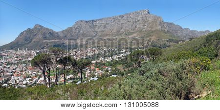Table Mountain On A Clear Summers Day, Cape Town South Africa