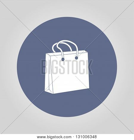 Shopping bag icon. Flat design style eps 10