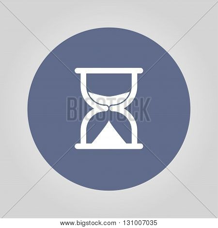 sand clock icon. Flat design style eps 10
