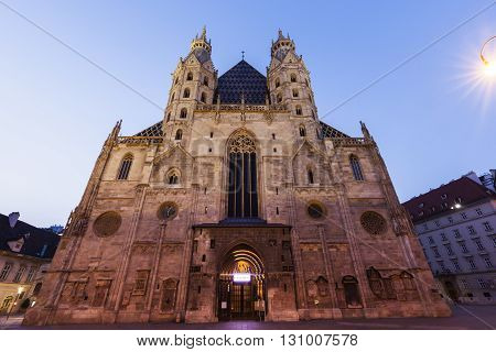 Saint Stephen's Cathedral on Stephen's Square in Vienna. Vienna Austria.