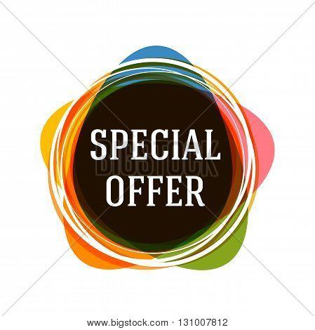 Special offer banner. Sale tag. Sale poster. Sale vector. Vector illustration