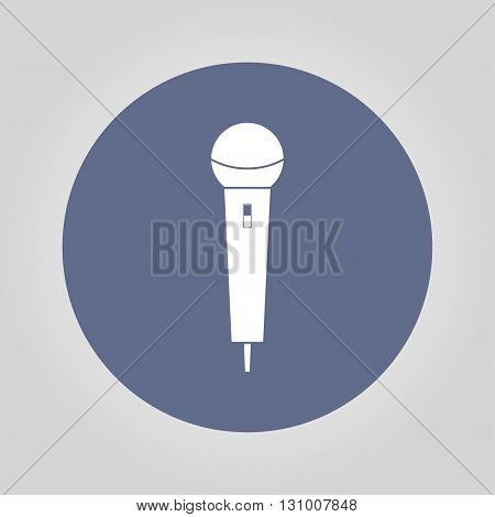 Microphone Icon. Flat design style eps 10