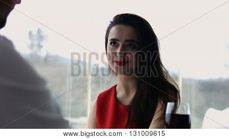 Shot of a beautiful young woman on a date with her partner