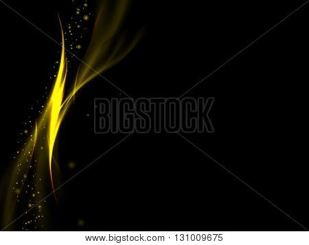 Abstract Black Background With Vertical Gold Lines Like Flames