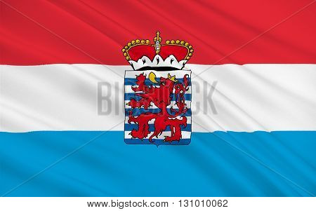 Flag of Luxembourg officially the Grand Duchy of Luxembourg is a landlocked country in western Europe 3d illustration