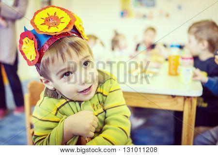 Birthday party in kindergarten
