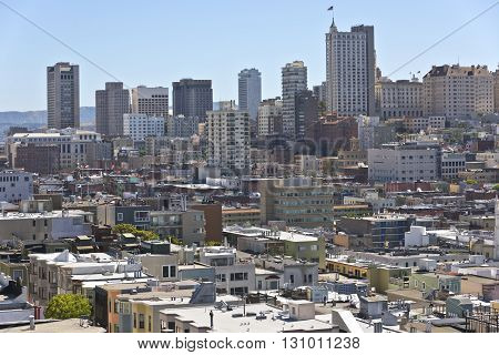 San Francisco a packed residential neighborhood of California.