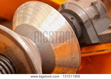 conic section steel rollers to move the workpiece