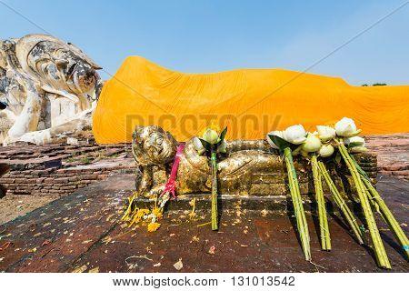 Reclining Buddha Statues, Ayutthaya