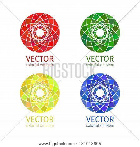 Business geometric emblem template set. Graphic Design Editable For Your Design.