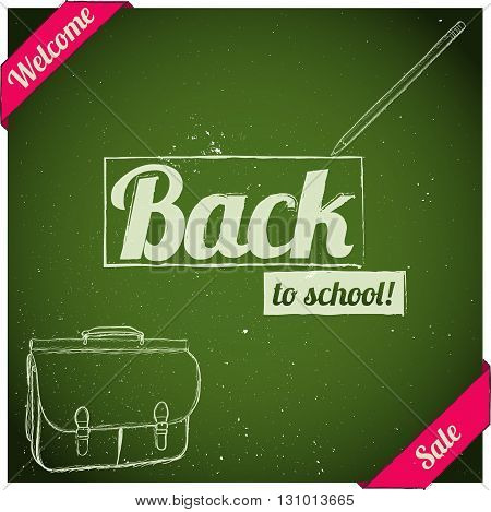 Back to school poster. Vector illustration EPS8
