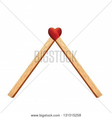 Heart matches for your design wooden matches