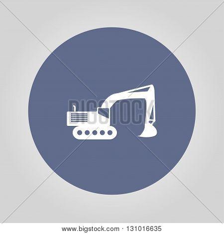 Excavator icon. Vector concept illustration for design.