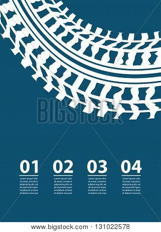 Vector abstract transportation background with infographic elements