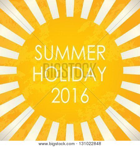 Summer background - 2016 vector illustration EPS10