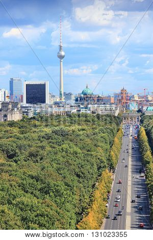 Berlin Vertical Skyline