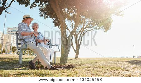 Mature Couple At Park On A Sunny Day
