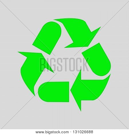 Recycle Symbol isolated on white background. Green recycle icon - vector illustration.