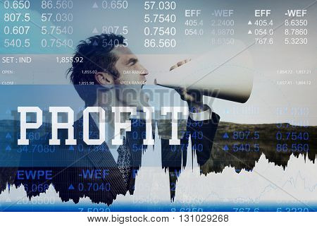 Profit Assets Benefit Financial Gain Gross Income Concept