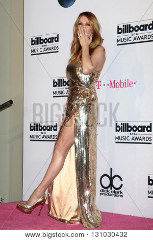 LAS VEGAS - MAY 22:  Celine Dion at the Billboard Music Awards 2016 at the T-Mobile Arena on May 22, 2016 in Las Vegas, NV